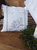 Úžitkový textil - Ľanová obliečka White Madness - 4856196_