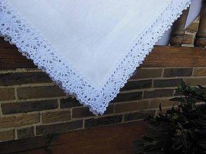 Úžitkový textil - Ľanový obrus White Madness - 4856093_