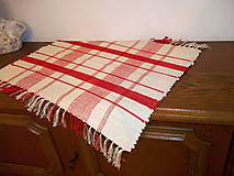 Úžitkový textil - kobercek,kocka cervena - 4860247_