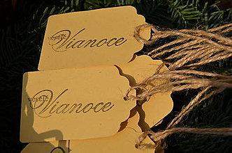 Papiernictvo - Visačky Veselé Vianoce 10 ks - 4858342_