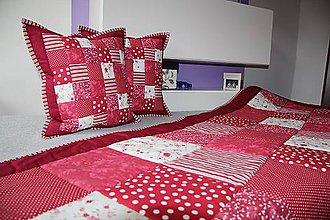 Úžitkový textil - prehoz na posteľ patchwork veľka deka 240 x 200 cm - 4857957_