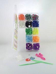 Komponenty - Malá sada gumičiek na výrobu náramkov z 4,90€ na 2,95€ - 4860516_