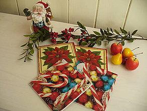 Pomôcky - XXL podšálky vo vianočnom šate - 4858334_