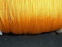 - Nylonová šnúrka 1,5mm oranžovožltá 43 - 4859876_