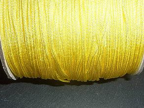Galantéria - Nylonová šnúrka 1,5mm svetložltá 42 - 4859860_