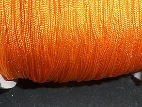 Galantéria - Nylonová šnúrka 1,5mm oranžová 44 - 4859882_