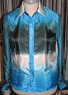 Košele - Dámska hodvábna košeľa - 4860317_