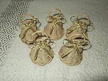 Dekorácie - sada minizvončekov - 4859370_