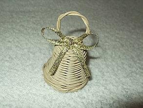 Dekorácie - minizvončeky (Zlatá) - 4859382_