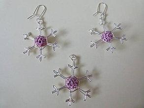 Sady šperkov - Ružové vločky - 4862785_