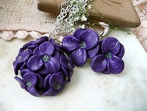 Sady šperkov - na fialkách-dnes bez poštovného - 4862230  047085e9a01