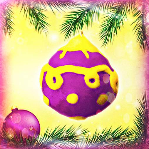 3D vianočná guľa - vyčačkaná NA ZÁKAZKU