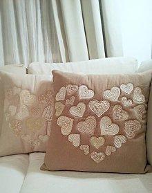 Úžitkový textil - vankúš kamoš srdcový - 4866432_