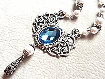 Náhrdelníky - Blue barocco - 4865304_