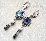 Náušnice - Blue baroque dreams - 4865334_