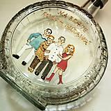 - Ručne maľovaná fľaša s minikarikatúrkami na želanie - 4867275_