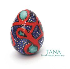 Dekorácie - Tana šperky - keramika/zlato, vajíčko :) - 4867246_