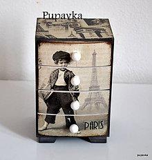 Krabičky - Chlapček v uličkách Paríža - 4865984_