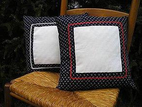 Úžitkový textil - Vankúš modrotlač - 4867277_
