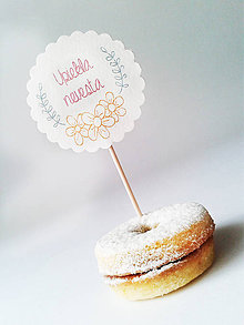Dekorácie - Svadobný zápich do koláčov (sada) - 4867862_