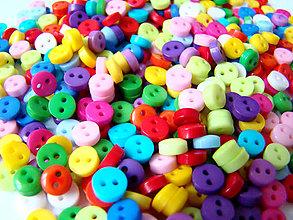 Galantéria - Malé plastové gombíčky 6mm / 2OKS - 4869007_
