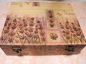 Krabičky - Veľká čajová - levanduľa - 4869889_