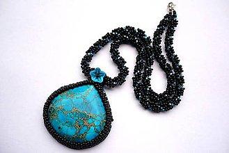 Náhrdelníky - Variscitový náhrdelník - 4868774_