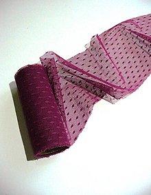 Textil - bordový tyl s bodkami š. 12cm - 4869808_