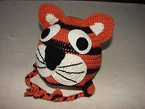 Detské čiapky - čiapočka tigrík - 4872067_