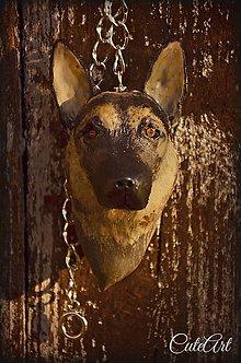 Kľúčenky - Nemecký ovčiak - kľúčenka XXL podľa fotografie - 4872479_