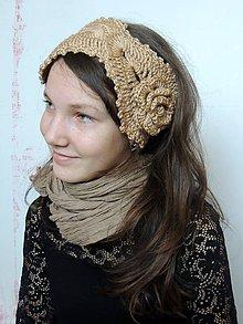 Ozdoby do vlasov - Béžová čelenka-SKLADOM - 4871496_