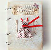 Papiernictvo - Retro red receptárik - 4870907_