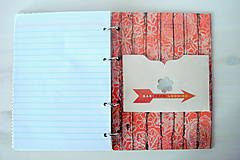 Papiernictvo - Retro red receptárik - 4870911_
