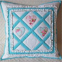 Úžitkový textil - ♥ v tyrkysovom - 4871852_