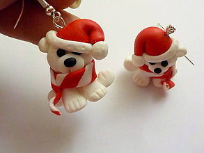 Náušnice - vianocny ladovy maco - 4873583_
