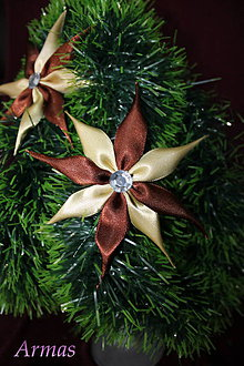 Dekorácie - Kvet v hnedých otieňoch- ozdoba- - 4873716_