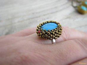 Prstene - Tyrkenitový prsteň - 4874165_