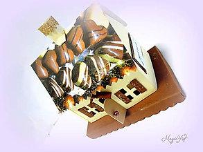 Svietidlá a sviečky - Svietnik - Sladký domček - 4874465_