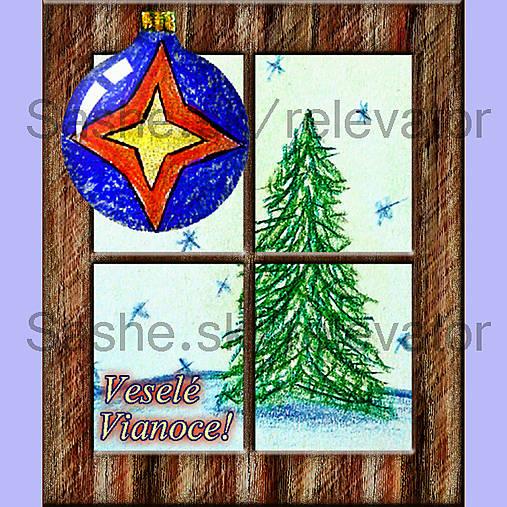 Za oknom stromček rastie 5 (pohľadnica)