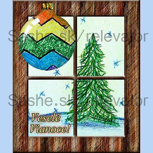 Za oknom stromček rastie 6 (pohľadnica)