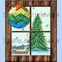 Papiernictvo - Za oknom stromček rastie 6 (pohľadnica) - 4875930_