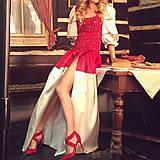 Šaty - Spoločenské/ Plesové šaty s vyšívaným korálovým živôtikom ZĽAVA - 4876888_