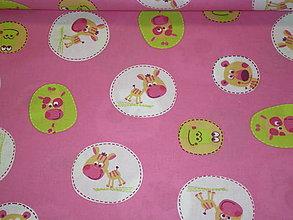Textil - Detský motív - ružová š 160cm - 4876111_