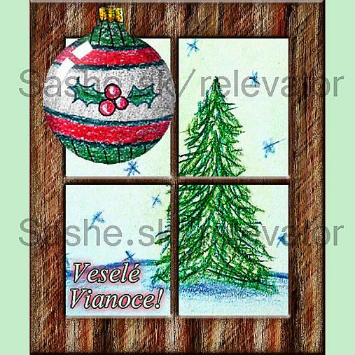 Za oknom stromček rastie 7 (pohľadnica)