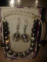 Sady šperkov - hematit sada - 4877539_