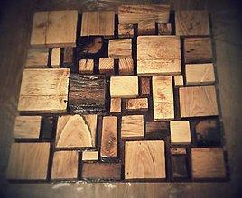 Obrazy - Drevená mozaika - 4878449_