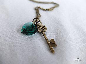 Náhrdelníky - Kľúčik od šťastia - 4879084_