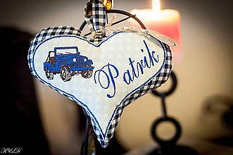 """Dekorácie - Srdiečko """" Patrik"""" - 4880482_"""