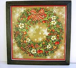Dekorácie - Vianočný veniec zelený - 4879598_