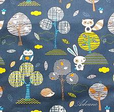 Textil - Látka sova a zajac - 4880067_